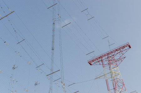 high frequency: many communication lines from a large transmitting system