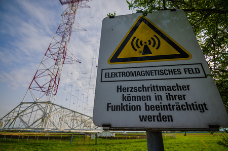 electromagnetic: sign with inscription electromagnetic field