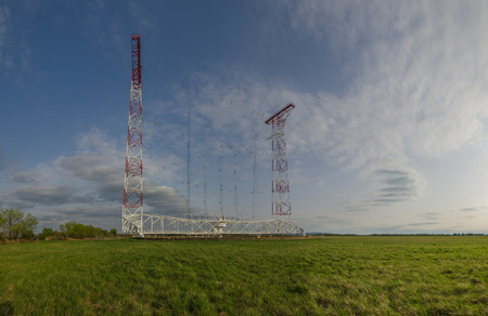 high frequency: large transmitting system panorama view