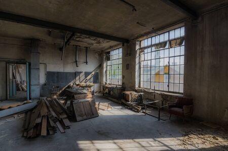 habitación en la vieja fábrica abandonada