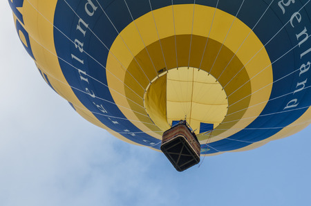yellow hot air balloon in the sky