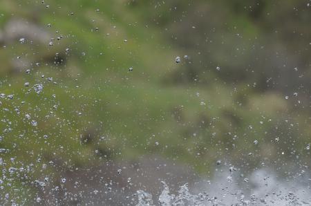 splashing water: splashing water in nature detail view
