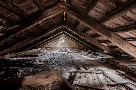 going places: attic with wood and beautiful window