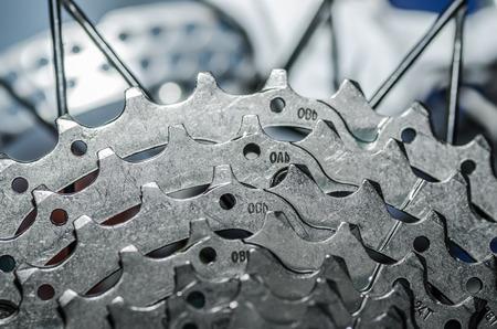 accelerated: gear wheel from mountain bike detail