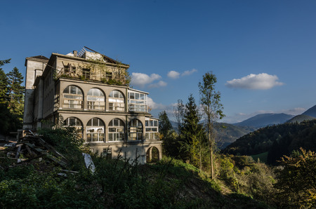 uninhabited: abandoned old childrens hospital in the mountains