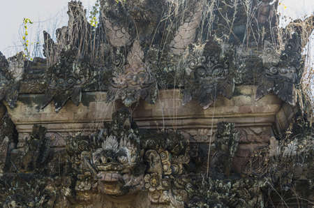 old overgrown temple in indonesia