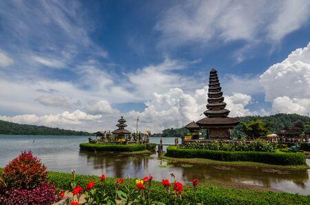 pura bratan water temple in bali indonesia