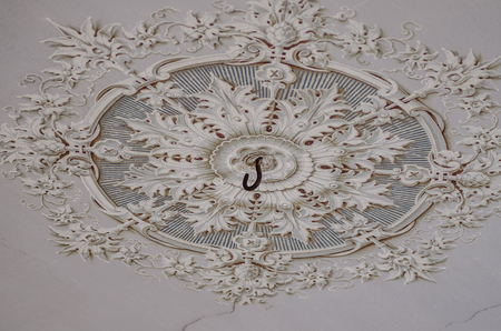 stucco on old ceiling in old castle