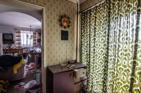 view room in old abandoned house