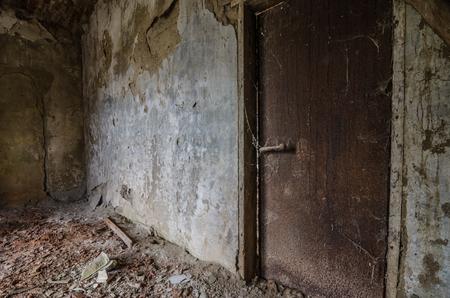 Rusty iron door