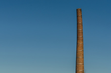 slate chimney with blue sky Imagens