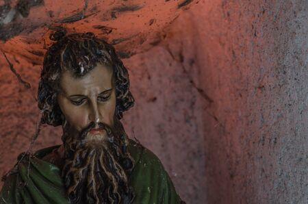religious figure detail view Stock Photo