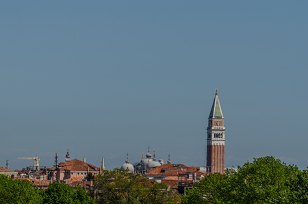 tower in Venice with blue sky
