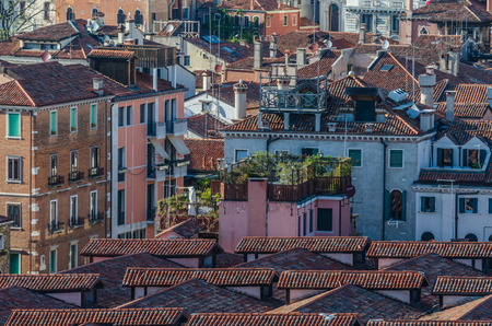 roofs and building in venice italy Stock Photo