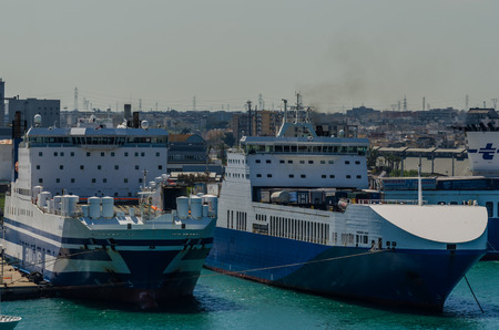two big ships in the harbor Editorial