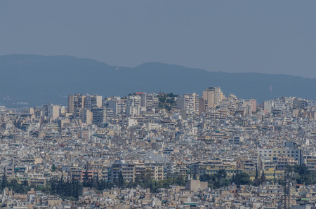 many buildings and houses in athens greece