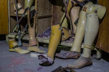 prostheses in a rehabilitation center detail view
