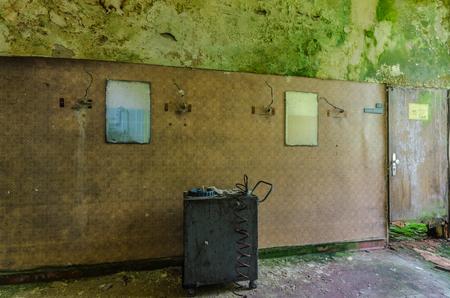 wall mirror in abandoned rehabilitation center