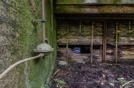 old abandoned sluice at a river Stock Photo