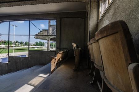abandoned racecourse in a big city Stok Fotoğraf