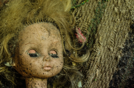 old doll detail view