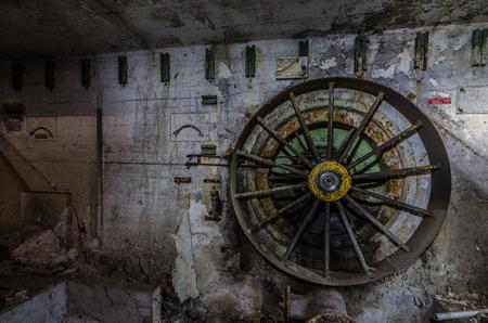 big fan in a abandoned factory