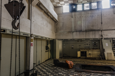control center in an abandoned manufacture