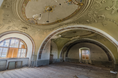 Room with adornments in an abandoned castle