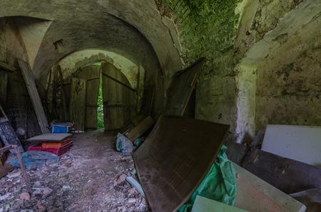 vault in old abandoned castle