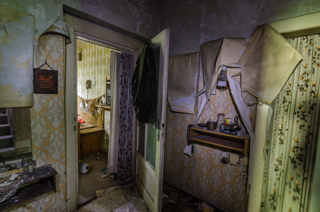 rooms in old abandoned house