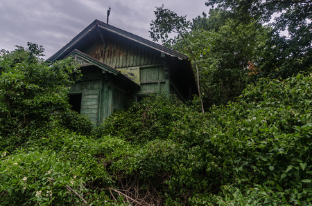 old fused green house