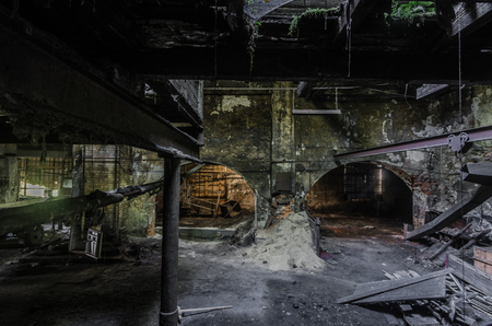 Dark building of an abandoned foundry