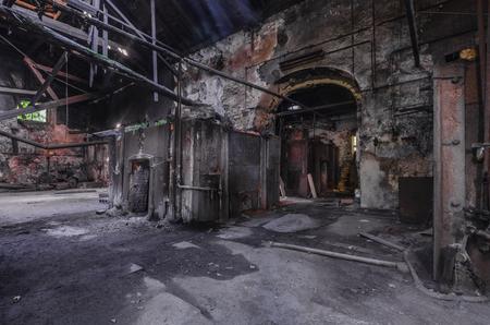 old abandoned dark foundry