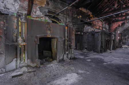 old abandoned foundry