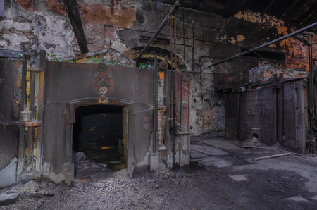 old rusty furnace in a foundry