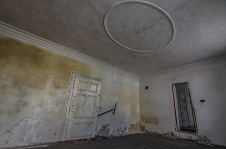 room with circle on the ceiling in a house