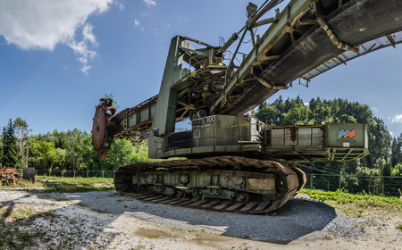 Wide angle view of a bucket wheel excavator panorama view