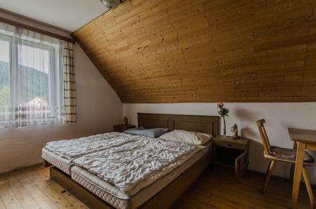 empty room in attic of old inn