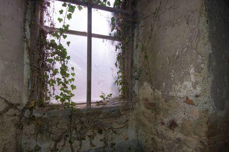 old church fused window