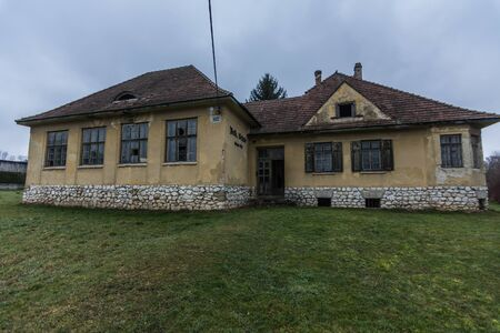 Abandoned building from an old school
