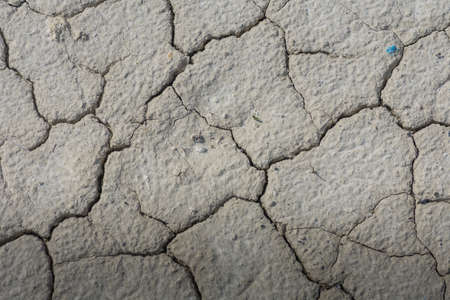 dried soil with lot of cracks in a quarry