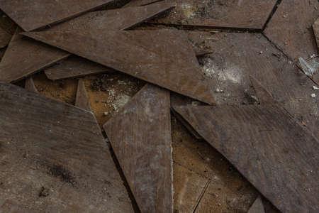 single corners of a wooden floor Archivio Fotografico