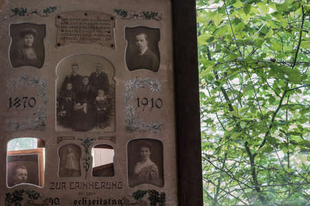 wedding memories in a abandoned house in a forest