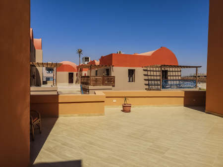 beautiful terrace and bungalows in egypt on vacation