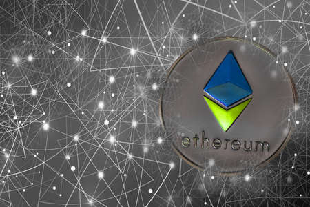 valueable silver ether crypto currency connected with the network