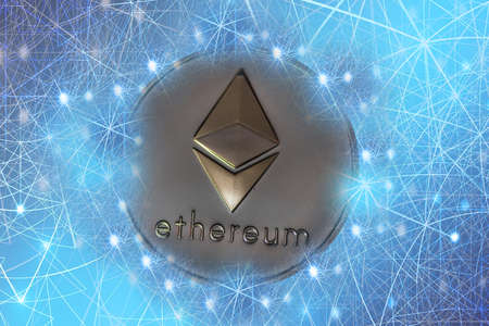 valueable silver gold ether crypto currency connected with the network