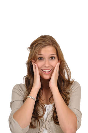 Young woman surprised Stock Photo - 9974891