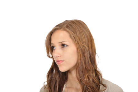 Young woman looking into the distance Stock Photo - 9974868