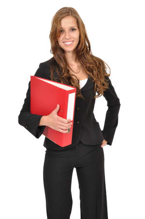 Business woman wearing a folder Stock Photo - 9986171