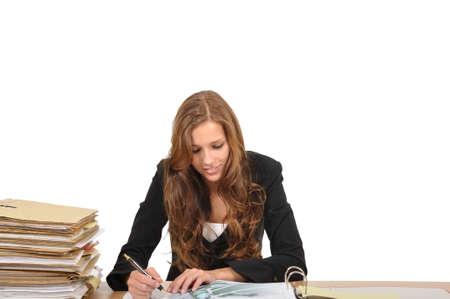 Seller studying a blueprint Stock Photo - 9974855